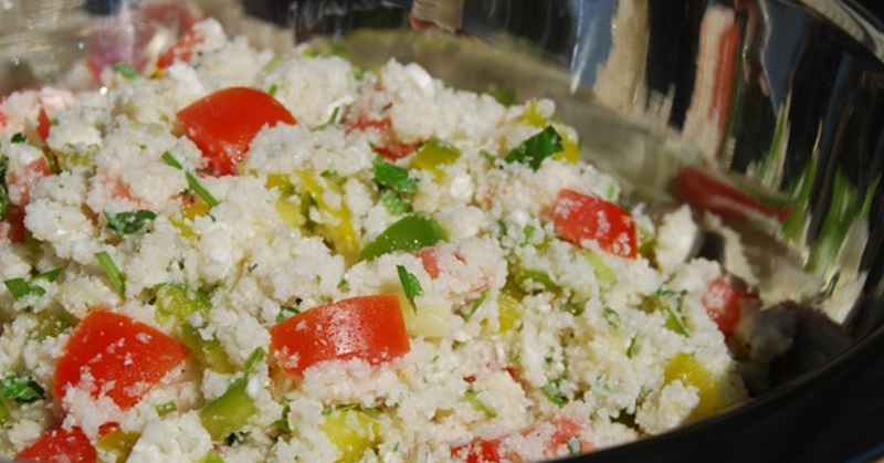 """Raw, grain-free """"couscous"""" with a secret ingredient you'll never guess"""