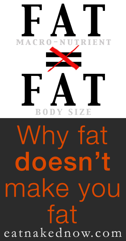 why fat doesn't make you fat | eatnakednow.com