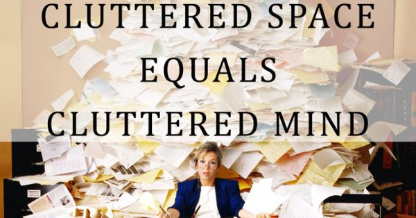 "A cluttered space makes a cluttered mind. Is all that ""free"" stuff really free? 