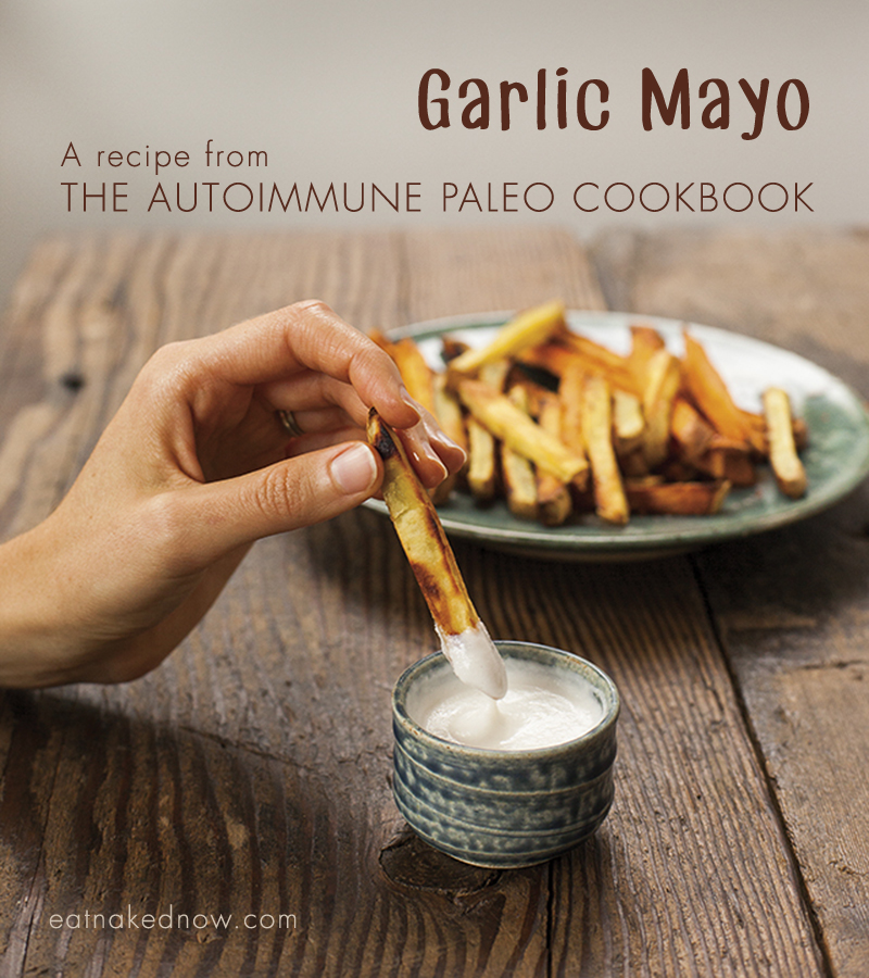 Garlic Mayo: A recipe from The Autoimmune Paleo Cookbook -- review and giveaway! | eatnakednow.com