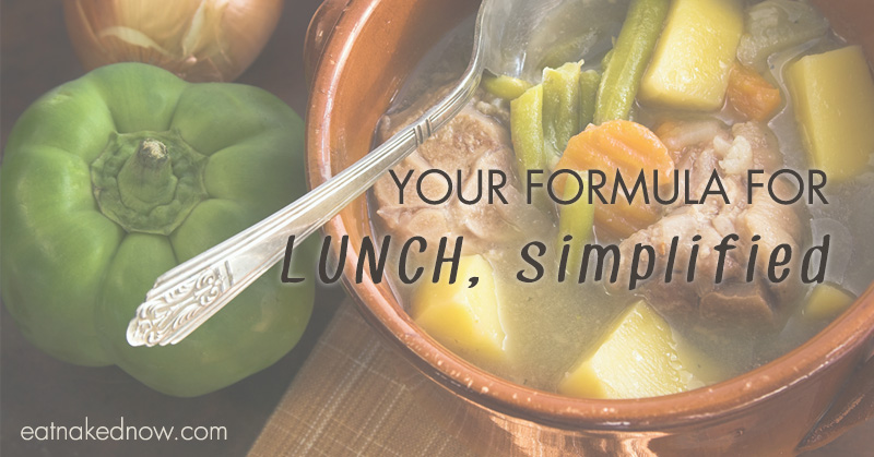 Your formula for lunch, simplified.