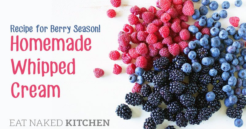 KiDs Can Cook Video: Recipe for berry season! Homemade Whipped Cream