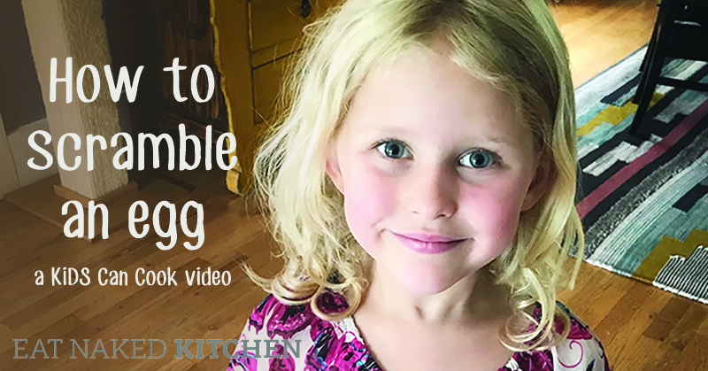 How to scramble an egg: A KiDs Can Cook Video